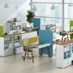 دکوراسیون داخلی شرکت با رنگ های شاد