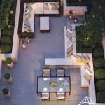 طراحی فضای سبز تراس