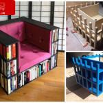 دکوراسیون های خلاقانه-قفسه کتاب
