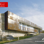معماری مدرن ساختمان فرهنگی