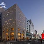 طراحی نمای ساختمان Louis Vuitton