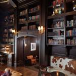 طراحی دکوراسیون منزل با قفسه کتاب