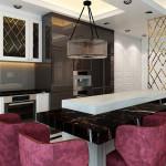 نمای داخلی آشپزخانه منزل ایرانی