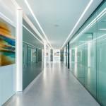 طراحی اداری با پارتیشن شیشه ای