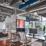 چیدمان دفتر کار کوچک شرکت TransferWise