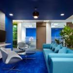 تاثیر رنگهای شاد در معماری داخلی ساختمان اداری Virtusa