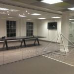 دکوراسیون شرکت با پارتیشن شیشه ای