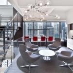 معماری داخلی مدرن دفتر اداری
