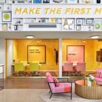 رنگهای شاد در دکوراسیون دفتر کار Bumble