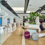 تاثیر طراحی سالن باز بر زیبایی بانک تجاری سیام