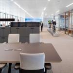 طراحی اداری با پارتیشن تک جداره شیشه ای