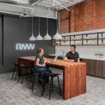 آجر برای نمای داخلی شرکت معماری RMW