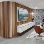 طراحی داخلی اداری با چوب بنیاد سرطان پرنسس مارگارت